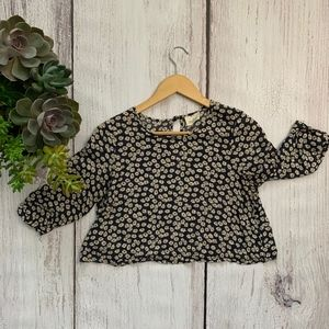 Pins And Needles Anthropologie Floral Crop Top